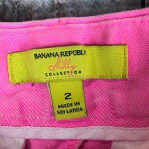 Banana Republic Shorts - Banana Republic Milly Collection Pink Shorts Sz 2
